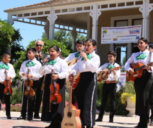 Academia de Mariachi Infantil Alma De Mexico performing at a July 20 competition in Morgan Hill. Photo by Noe Magaña.