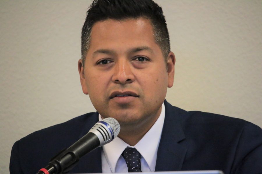 Superintendent Diego Ochoa said as a Spanish speaker he could be a familiar voice to convince people to take part in the 2020 Census. Photo by John Chadwell.