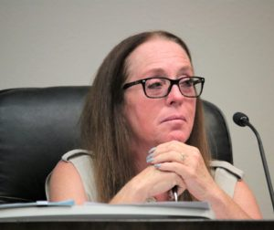 Hollister Councilwoman Honor Spencer announced her intent to run for mayor in 2020 at an Aug. 5 council meeting. Photo by John Chadwell.