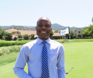 Nofiu Akano moved to the United States from Nigeria to pursue a career in golf. Photo by Becky Bonner.