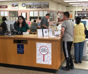 Inside the San Benito County Free Library, built in 1960. A city resolution said it is undersized for the programs it provides. Photos by John Chadwell.