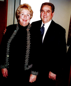 Marilyn and her husband Richard at Hollister Rotary Club, 2002. Photo provided.