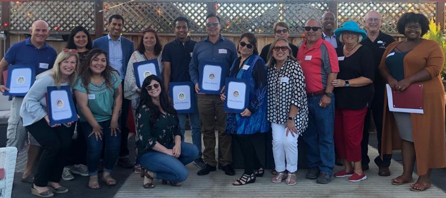 CASA of San Benito honoring volunteers at a recent gathering. Photos courtesy of CASA.