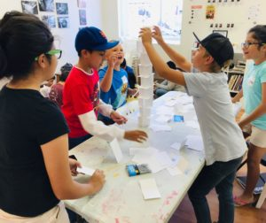 Students participate in the San Benito County Arts Council's STEAM Art Camp at the ARTspace ANNEX in Hollister. Photo provided.