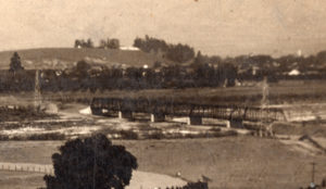 1913 Steel Truss Bridge designed by A. M. McCray at Fourth Street over the San Benito River. Photo provided by San Benito County Historical Society.