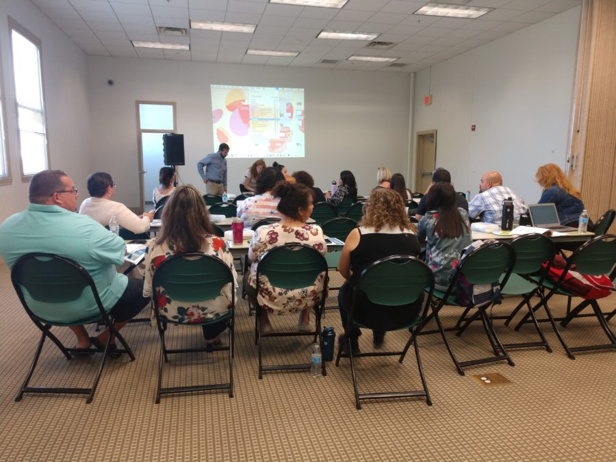 School staff engaged at the workshop. Photo by Carmel de Bertaut.