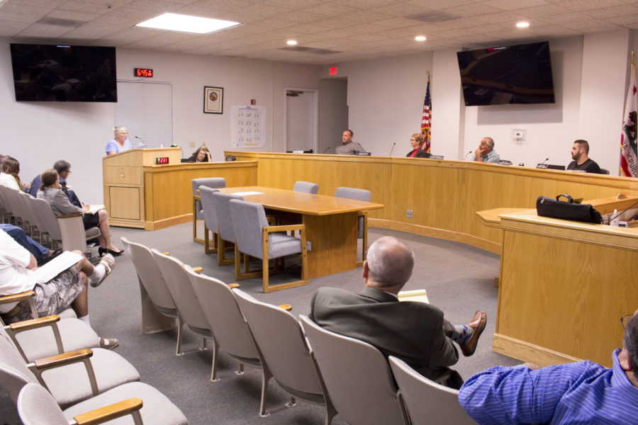San Juan Bautista resident Cara Vonk urged the San Benito County Planning Commission to capitalize on the unique landscape of the county. Photo by Noe Magaña.