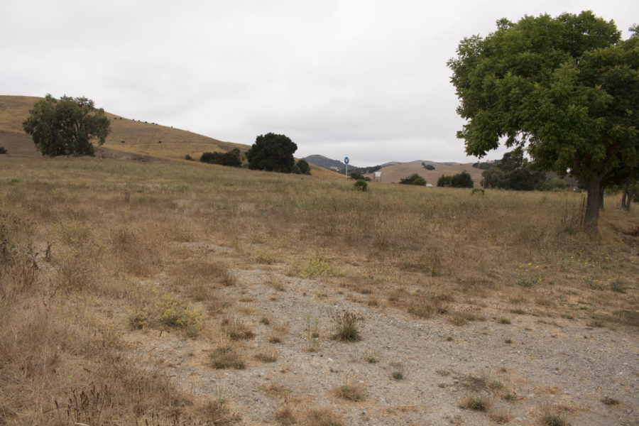 A vacant lot between Muckelemi Street and Highway 156 in San Juan Bautista is one option for an affordable housing site that would comply with the new draft housing element. Photo by Noe Magaña.