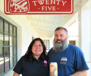 Brewery Twenty Five owners Fran and Sean Fitzharris created a speciality brew to celebrate San Juan Bautista's 150 anniversary. Photo by Becky Bonner.