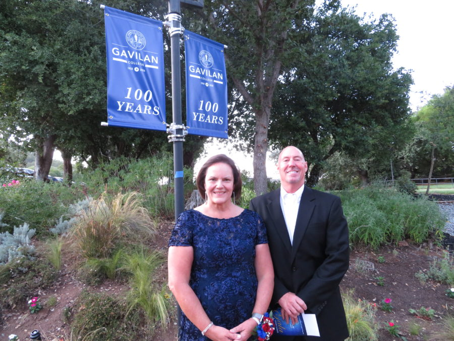 Gavilan College Superintendent/President Kathleen Rose and Board of Trustees Vice President Mark Dover pause for a photo at the Sept. 7 gala. Photos by Becky Bonner.