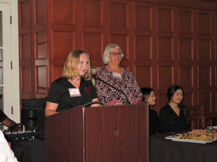 Girls Inc. Youth Leader Julissa Leggett spoke to attendees. Photo by Becky Bonner.