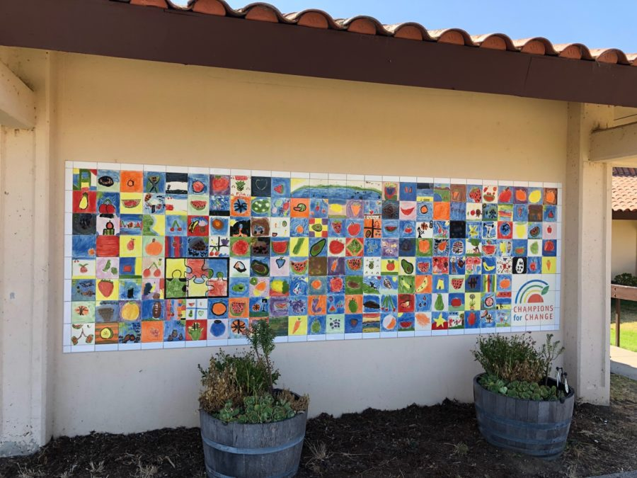 The completed healthy mural project at San Juan School. Photo provided.