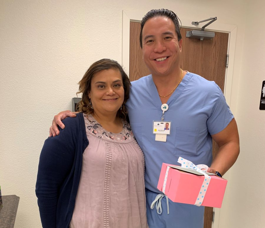 Christina Soto and Dr. Kyle Hsu. Hsu said he played a small part in saving Soto's life by removing flesh-eating bacteria that made her sick. Photo provided by Christina Soto.