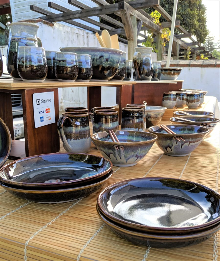 Carmel Valley resident Jennifer Long Klein had her pottery for sale at the market.