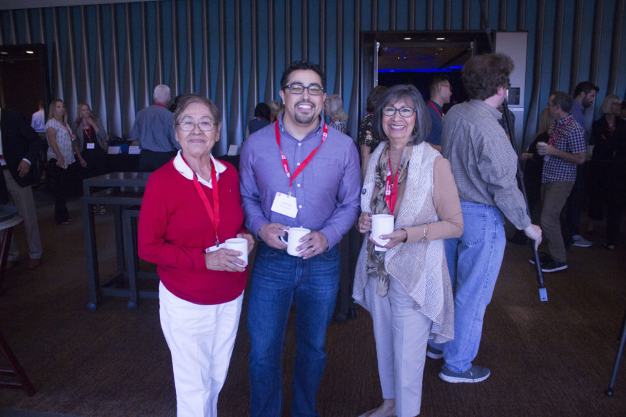 Vicky Montoya of San Benito Health Foundation, Luis Preciado of MidPen Housing and San Juan Bautista Councilwoman Mary Edge. Photo by Noe Magaña.