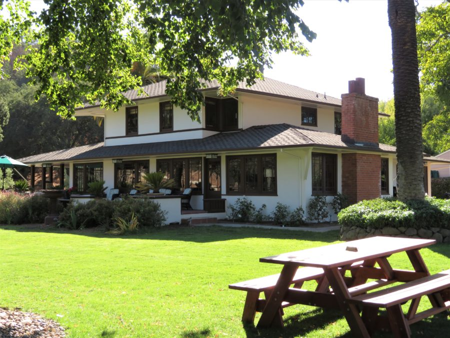 Eden Rift's tasting room is located in the historic Dickinson House, built in 1906.