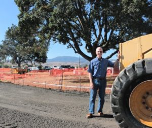 It's taken over 20 years, but developer Marty Miller is finally seeing his dream of an active-adult community being built in Hollister. Photo by John Chadwell.