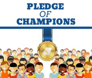 Pledge of Champions 2019 graphic designed by BenitoLink intern Alex Esquivel.