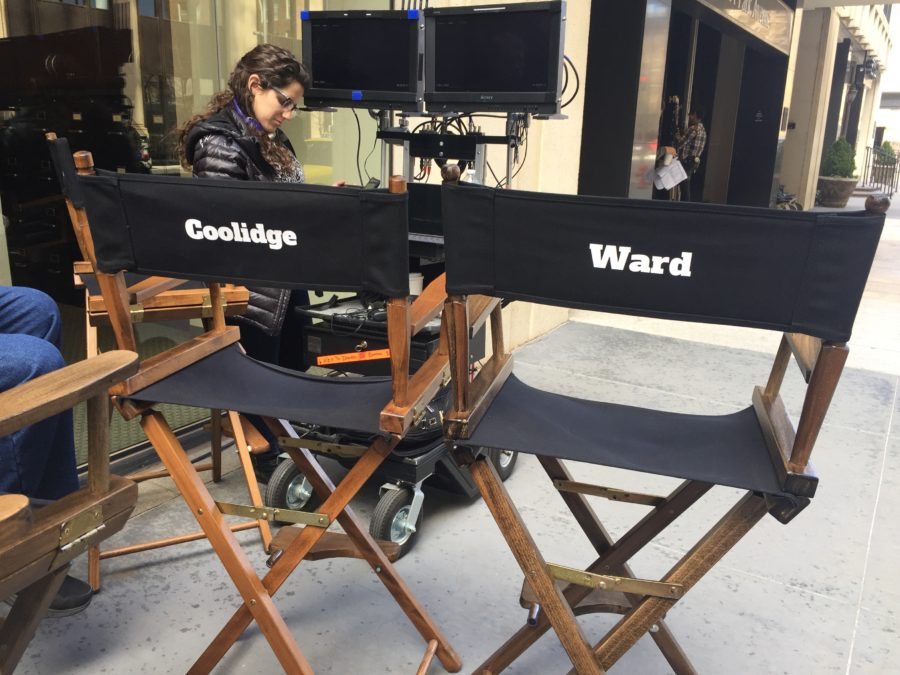 On the set of the Turkey Bowl. Lionsgate photo.