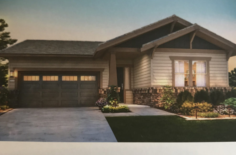 The largest plan for the project is 2011 square feet with 2 bedrooms,2.5 bath and a den. Photo from Twin Oaks brochure.