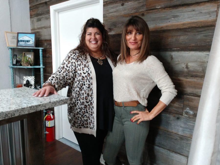 Owner Lynn Shaffer and sales clerk Julie Deidrick. Photos by Carmel de Bertaut.