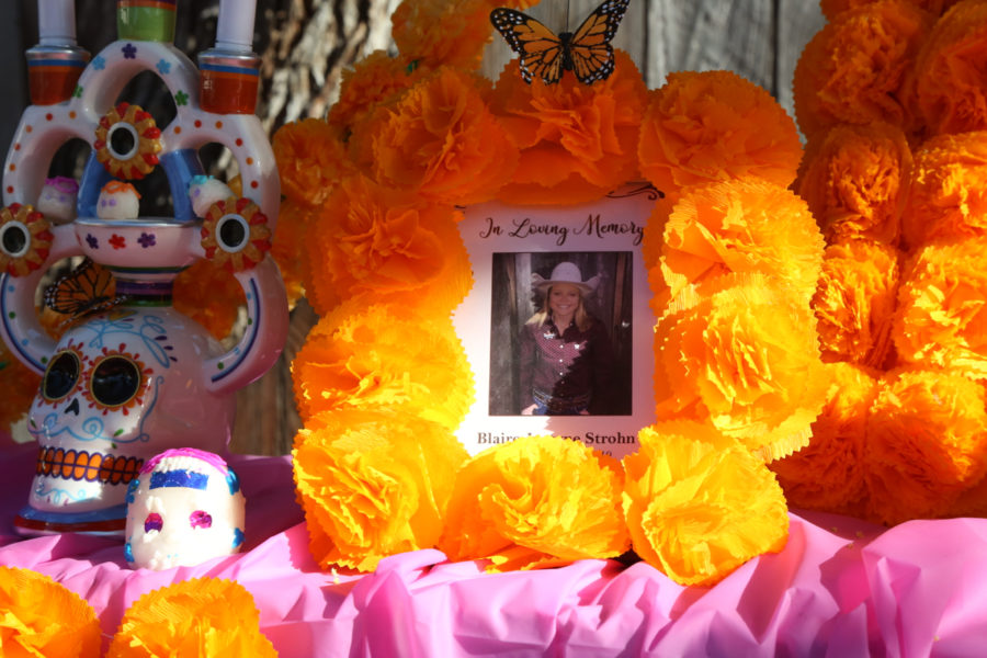 BenitoLink lost team member and South County reporter Blaire Strohn in 2019. Her photo was placed on the ofrenda in her memory.