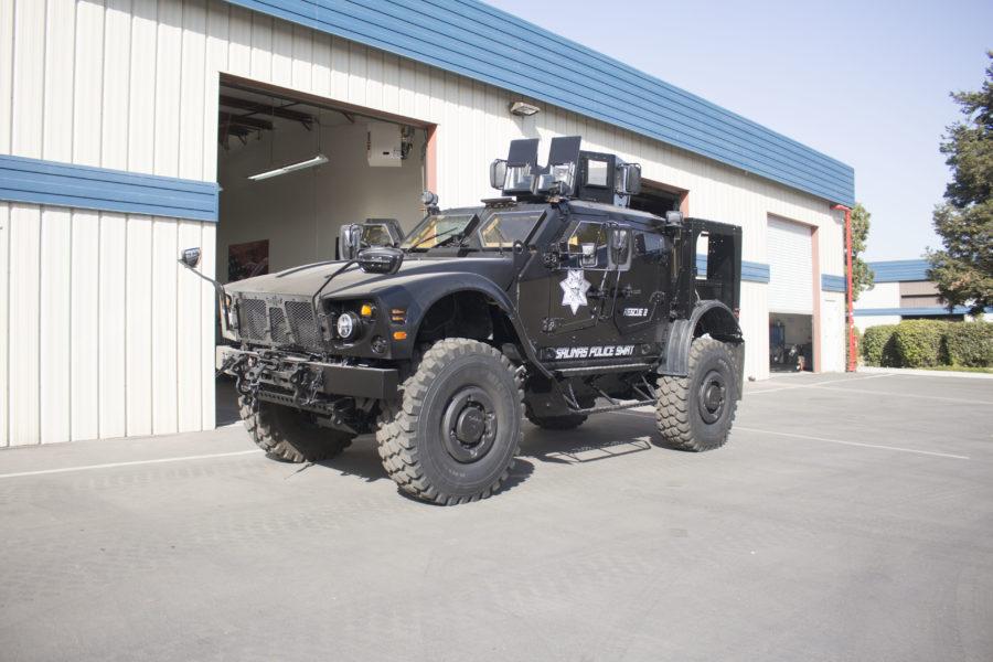 Salinas SWAT vehicle.