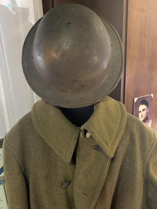 Helmet and Coat of Draftee Carl Palmtag.