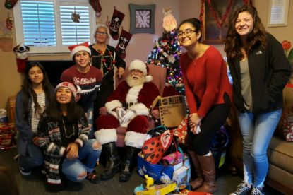 Hollister High School Key Club and Santa visit Emmaus House in 2018. Photo provided by Emmaus House.