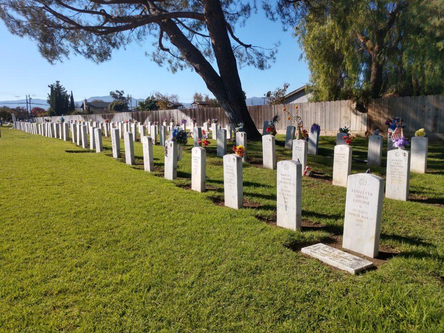 The graves of Veterans.