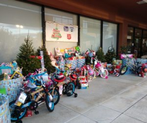 Donated items at the 2019 KSBW Share Your Holiday drive. The local event was held at the Heritage Bank in Hollister. Photos by Carmel de Bertaut.
