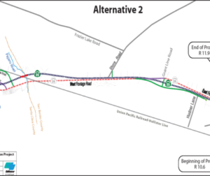Alternative two for the Highway 25 widening project. Graphic provided by COG.