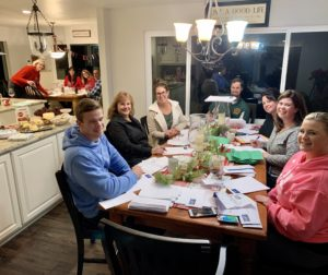 Educators from Spring Grove School help Santa by responding to letters from students. Photo provided by Rob Bernosky.