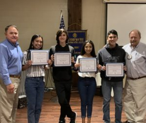 The Rotary Club of Hollister recognized four SBHS students: Ella Shara Pascua, Kayden Rhodabarger, Kayla Sanchez and Abel Macias. Photo provided by Rotary Club of Hollister.