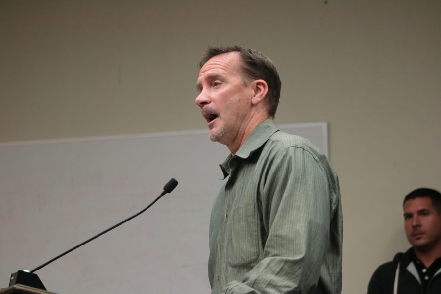 Jim Sullivan, a consultant with Award Homes, said the company has done everything the city required and is now considering its options moving forward since the council did not vote to approve an improvement agreement. Photo by John Chadwell.