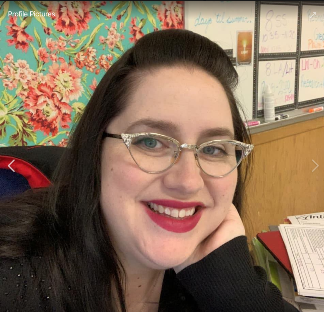Panoche School teacher and principal Amanda McCraw. Facebook photo.