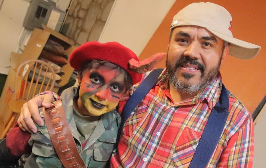 Mauricio Samano with Adam Luna. Photo by Robert Eliason.