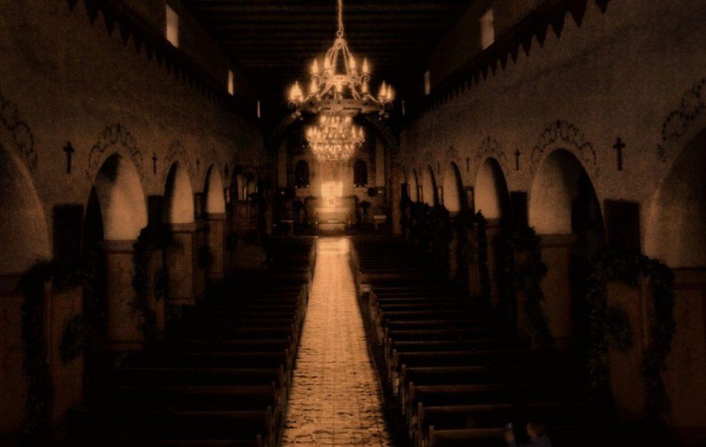 Winter Solstice at Mission San Juan Bautista. Photo by Robert Eliason.