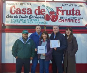 Agricultural Business of the Year: Casa de Fruta. Photos provided by SBC Chamber of Commerce.