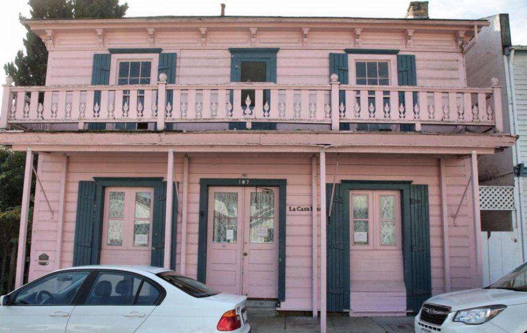 Historic Casa Rosa building in San Juan Bautista. Photo by Robert Eliason.