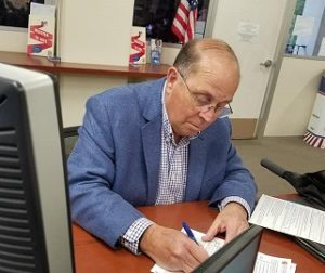 John Freeman registering to run for District 2 Supervisor. Photo provided by John Freeman.