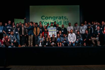 Participants in the 2019 Startup Weekend Monterey Bay. Photo provided by Mary Jo Zenk.
