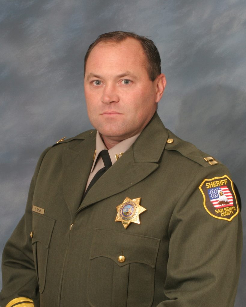 San Benito County Sheriff Captain Eric Taylor. Photo provided.