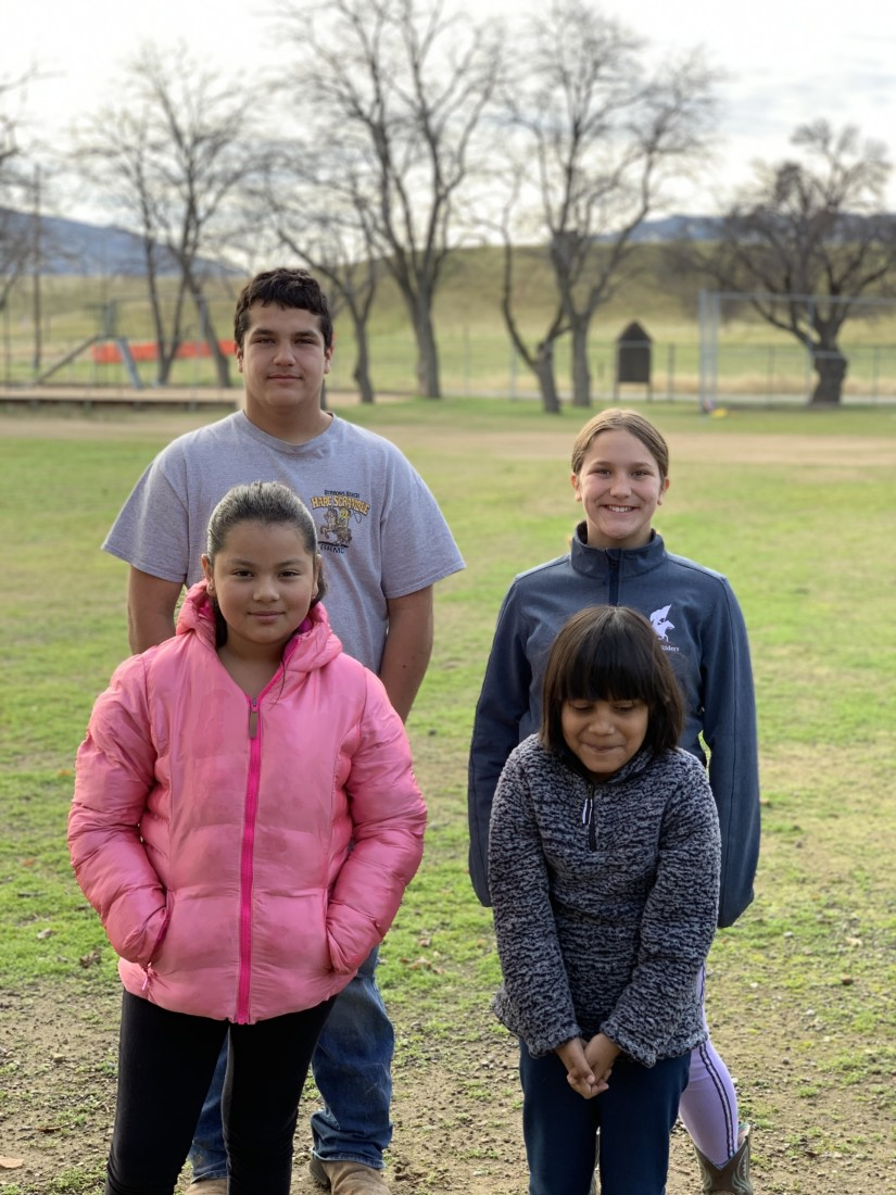 Panoche School students Mateo Gonzalez, Emelia Gonzalez, Jaylene Hernandez and Itzel Felix-Alaniz. Photo provided by Amanda McCraw.