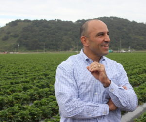 Congressman Jimmy Panetta touring a strawberry farm in his district. File photo.