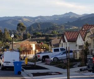 San Juan Bautista neighborhood with ranch land in the distance. Photo provided by Valerie Egland.