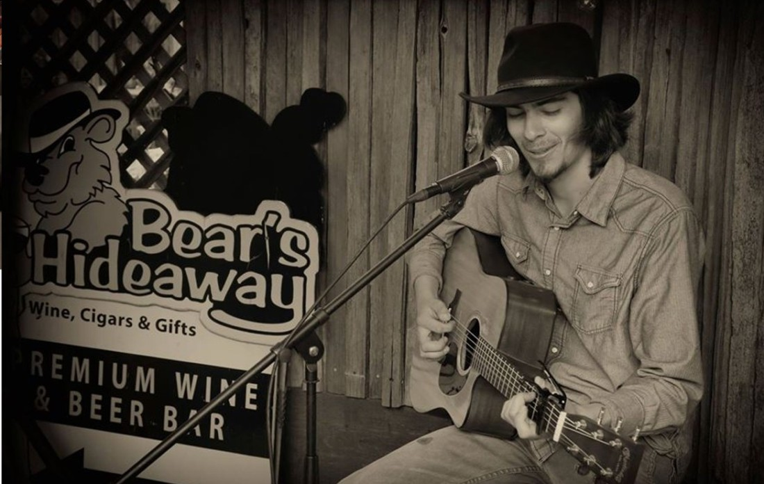 Zack Freitas at Bear's Hideaway. Photo by Robert Eliason.