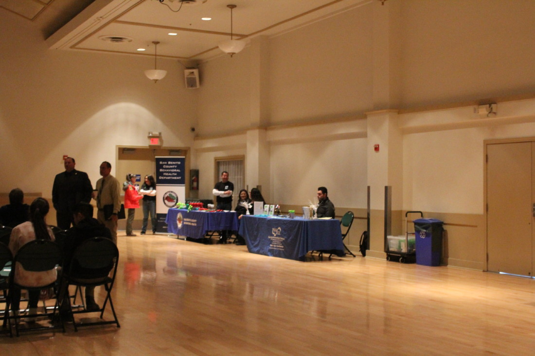 Behavioral Health and Sucide Prevention booths at the town hall. Photo by Camel de Bertaut.
