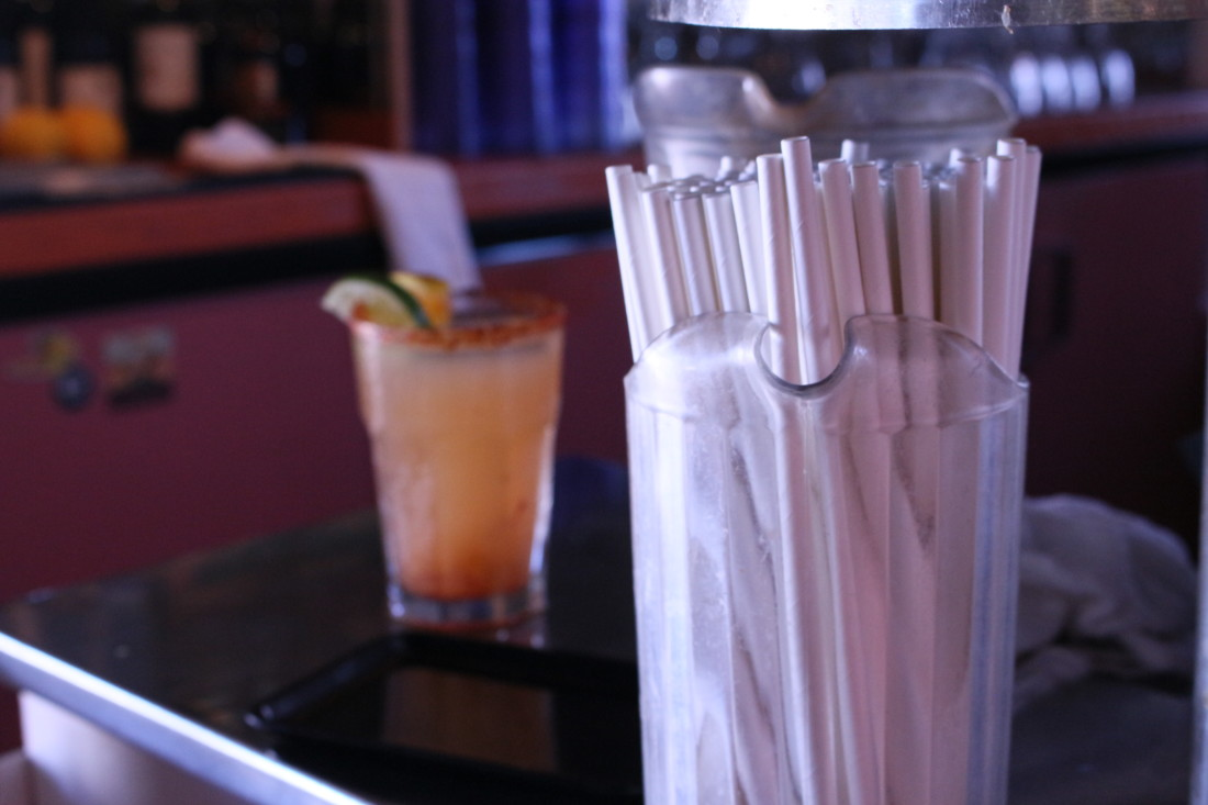 Marcus Edwards, general manager of Jardines, said changing to paper straws was a no brainer. Photo by Noe Magaña.