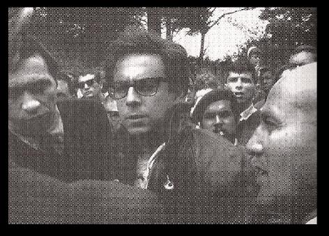 Newspaper photo of the Lafayette Park arrest. Photo courtesy of El Teatro Campesino.